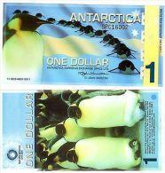 Antarctica Billet 1 DOLLAR 14/12/ 2011 PENGUIN NEW DESIGN NOUVEAU NEUF UNC - Other - America
