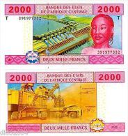 CONGO AFRIQUE CENTRALE AFRICAN STATES Billet 2000 FRANCS 2002 P108T NEUF UNC - Other - Africa