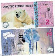 Arctic TERRITOIRES Billet  2 1/2  POLAR 2013  OURS POLYMER  UNC NEUF - Autres - Amérique
