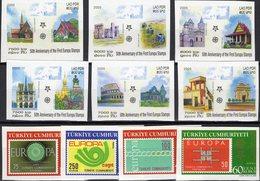 EUROPA 2005 Lao 1973/8B,Türkei 3491/4 ** 55€ Architectur Wat Phra Keo Wat Phu Kirche Lom Patuxay Set Of CEPT - Architecture