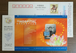 Computerized Tomographic Scanning CT,China 2002 Nanjing Military Area Fuzhou General Hospital Advert Pre-stamped Card - Medicine