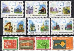 EUROPA 2005 Lao 1973/8,Türkei 3495/8 ** 29€ Kathedrale Trier Stonehenge GB Notre-Dame Paris Architectur Set Of CEPT - Architecture