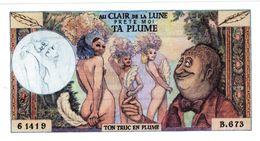 PUBLICITé ADVERTISING VOLTAIRE EROTIQUE Au Clair De La Lune PRETE-MOI TA PLUME - Fictifs & Spécimens