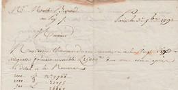 Dépôt De 26 Assignats Pour 15 000 Livres / 1791 / Mathieu BERTRAND Négociant Dentelles Le Puy 43 / Dépôt à Paris ? - Documents Historiques