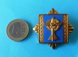 YUGOSLAVIA ARMY ( JNA ) ... AIR-FORCE ACADEMY ... Large Gold Plated Enamel Breast Badge * Aviation Aeronautica Militare - Militair & Leger