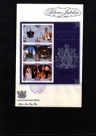 Cook Islands 1977 Silver Jubilee Block FDC - Cook Islands