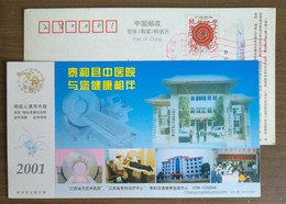 Computerized Tomographic Scanning CT,China 2001 Taihe Hospital Of Traditional Chinese Medicine Advert Pre-stamped Card - Other