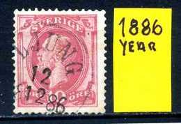 SVEZIA -  SVERIGE  - Year 1886 - Usato - Used - Utilisè - Gebraucht . - Usati