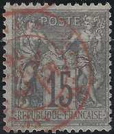 1876 Sage N/B N°66 15c Gris Lilas Oblitéré Dateur  Affranchissements /Paris En Rouge  !!  Superbe Signé Calves - 1876-1878 Sage (Type I)