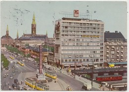 KOBENHAVN, COPENHAGEN, Vesterbros Passage, Liberty Column, 1958 Used Postcard [22190] - Denmark