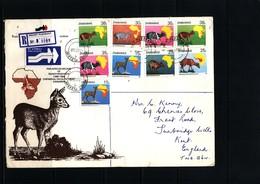 Zimbabwe 1987 Interesting Airmail Registered Letter - Zimbabwe (1980-...)