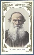 Chromo Chocolat Guerin-Boutron Livre D'or Célébrités Contemporaines - 82 Tolstoï écrivain Russe Russie - Guérin-Boutron