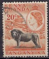 Kenya Uganda Tanganyika 1954 - 59 QE2 20ct Lion SG 170 ( L1383 ) - Kenya, Uganda & Tanganyika