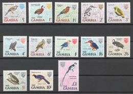 Gambia 1966 Mi# 210-22** DEFINITIVES, BIRDS - Gambie (1965-...)
