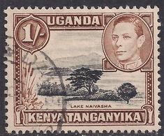 Kenya Uganda Tanganyika 1938 - 54 KGV1  1/-d Lake Naivasha SG 145b ( L1385 ) - Kenya, Uganda & Tanganyika