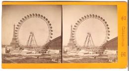 Paris - Tour Eiffel Et Le Grande Roue -  Von 1900 (S028) - Photos Stéréoscopiques