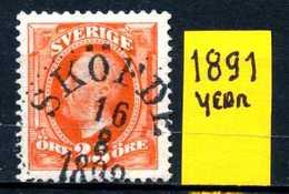SVEZIA -  SVERIGE  - Year 1891 - Usato - Used - Utilisè -gebraucht. - Svezia