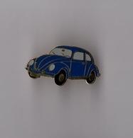 Pin's Voiture Citroen 2 CV Chevaux Bleue (EGF) Longueur: 2,8 Cm - Citroën