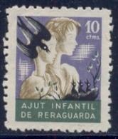 Spain Civil War Republican Label MH 10 Ctms Ayut Infantil De Reraguardia - Emissioni Repubblicane