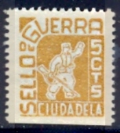 Spain Civil War Republican Label MH 5 Cts Ciudadela Sello De Guerra - Emissioni Repubblicane