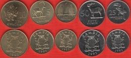 Zambia Set Of 5 Coins: 25 Ngwee - 10 Kwacha 1992 UNC - Zambie