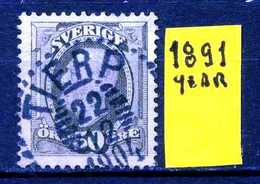 SVEZIA - SVERIGE - Year 1891 - Usato - Used - Utilisè - Gebraucht. - Usati