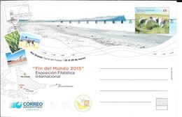 FIN DEL MUNDO AÑO 2015 EXPOSICION FILATELICA INTERNACIONAL ENTERO POSTAL ENTIER RIO GRANDE TIERRA DEL FUEGO ARGENTINA - Enteros Postales