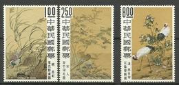 TAIWAN  1963  PAINTINGS,BIRDS  PART SET  MNH - Uccelli