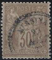1876 Sage N/B N°69 30c Brun Oblitéré Du Dateur Perlé De Mersina (Turquie) En Noir ! TTB Signé Calves - 1876-1878 Sage (Type I)