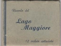 7777.   Ricordo Lago Maggiore 12 Vedute Artistiche Dim. 7,5 X 9 - Vecchi Documenti