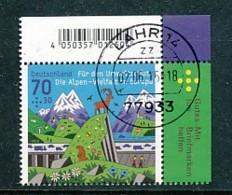 GERMANY Mi.Nr. 3245 Umweltschutz -: Die Alpen Vielfalt In Europa - Eckrand Oben Rechts - Used - BRD