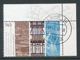 GERMANY Mi.Nr. 3299 UNESCO-Welterbe -Zeche, Fachwerkhaus, Staudamm - Eckrand Oben Rechts - Used - [7] République Fédérale