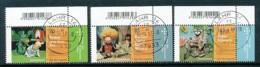GERMANY Mi.Nr. 3325-3327Jugend: Augsburger Puppenkiste - Eckrand Oben Rechts - Used - BRD