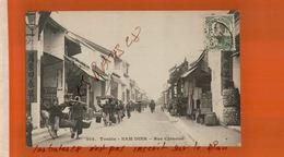 CPA TONKIN  NAM DINH   Rue Chinoise   Timbre Indo-Chine Oblitéré  Animée  NOV  2017 315 - Vietnam