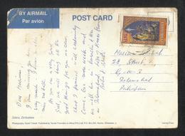 Zimbabwe Postal Used Picture Postcard With Stamps Christmas - Zimbabwe (1980-...)