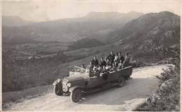 """07594 """"OMNIBUS SCOPERTO ANNI '20 - SPAGNA - GALIZIA"""" ANIMATA. FOTOGR. ORIG. - Automobiles"""