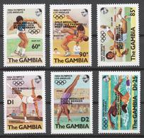 Gambia 1985 Mi# 476-81** OLYMPIC GAMES LOS ANGELES 1984 - Gambie (1965-...)