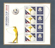 France, Bloc Feuillet N° 142, BF 142, 5245, Bloc Neuf **, TTB, Ryder Cup 2018, La Légende Du Golf En France - Sheetlets