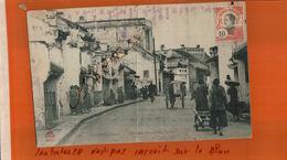 CPA TONKIN   HANOÏ  Rue Des Pavillons  Noirs  Animé Timbre INDO-CHINE   NOV  2017 309 - Vietnam