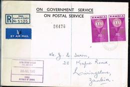 ZAMBIE - Lettre Recommandée Du 26/07/1965 - Zambie (1965-...)