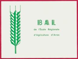 Carte Double Faire-Part Invitation 62 ARRAS - BAL De L' ECOLE REGIONALE D' AGRICULTURE (épi De Blé) - Faire-part