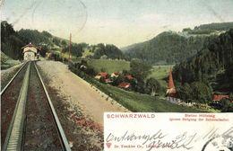 BREITNAU, Schwarzwald, Zahnradbahn Station Höllsteig (1903) Bahnpost Zug 25 - Germany