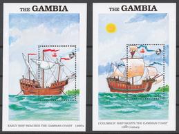 Gambia 1988 Mi# 808-15+ Bl.56-57** DISCOVERY OF AMERICA, 500th ANNIV. - Gambie (1965-...)