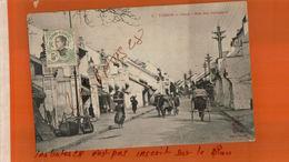 CPA TONKIN   HANOÏ Rue Des Changeurs ANIME  Timbre INDO-CHINE Non Oblitéré  NOV  2017 307 - Vietnam
