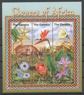 Gambia 2001 Mi# 4224-29** FLOWERS OF AFRICA - Gambie (1965-...)