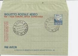 Italien LF 1 - 60 L Aerogramm M  Bl. Ersttagsstempel 31.5.52 - Italie