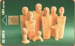 MALTA - MT-MLT-0027, Prehistoric Art, 80 Units, 10.000ex, 3/96, Used As Scan - Malta