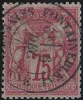 1876 Sage N/B N°71a 75c Carmin Ros Vif Oblitéré Du Dateur De Fontainebleau Superbe !!! - 1876-1878 Sage (Type I)