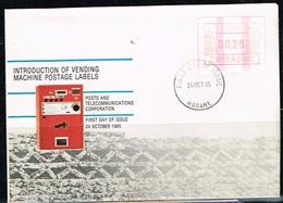 ZIMBABWE / FDC Introduction Des Distributeurs De Timbre Le 24/10/1985 - Zimbabwe (1980-...)