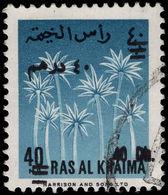Ras Al Khaima 1966 40d On 40np Fine Used. - Ras Al-Khaima